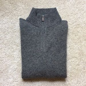 J. Crew Quarter Zip Sweater, size L